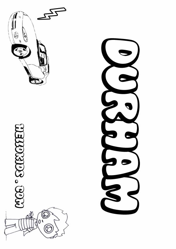 Durham coloring page