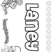 Laney - Coloring page - NAME coloring pages - GIRLS NAME coloring pages - L girl names coloring posters