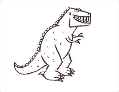 How To Draw How To Draw A Tyrannosaurus Hellokids Com