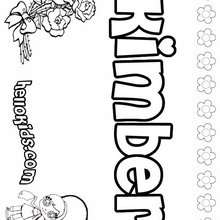 Kimber - Coloring page - NAME coloring pages - GIRLS NAME coloring pages - K names for girls coloring posters