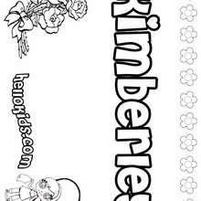 Kimberley - Coloring page - NAME coloring pages - GIRLS NAME coloring pages - K names for girls coloring posters