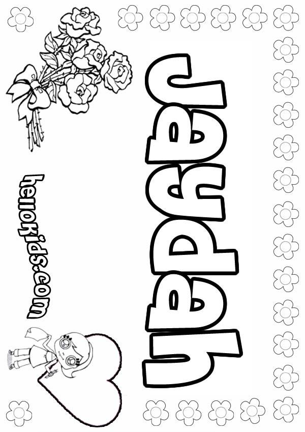 Jaydah Coloring Pages Hellokids Com Hellokids Coloring Pages