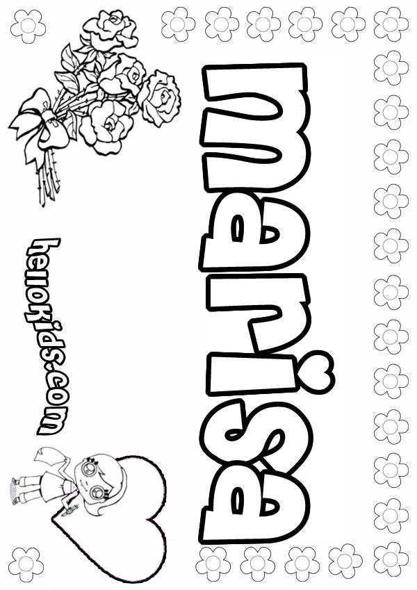 Marisa coloring page