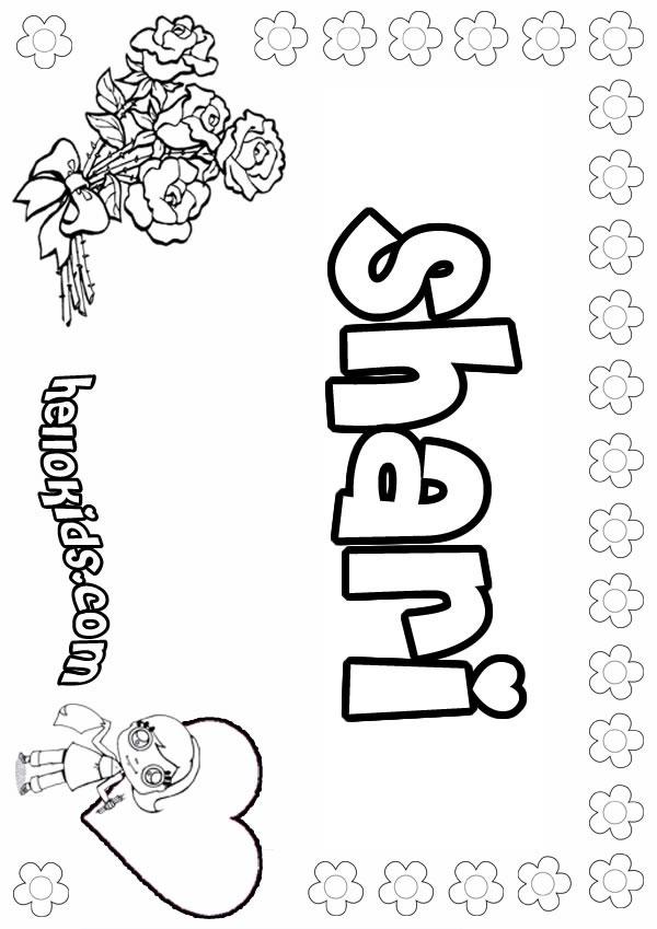 Shari coloring page