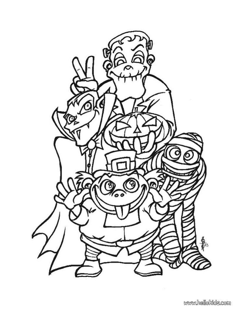 HALLOWEEN MONSTERS coloring pages - Spooky monsters