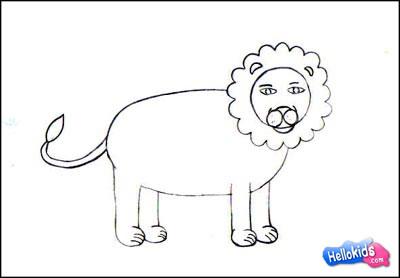 How To Draw Lion Hellokids Com