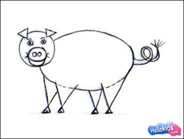 how to draw farm animals easy