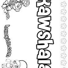 Kawshala - Coloring page - NAME coloring pages - GIRLS NAME coloring pages - K names for girls coloring posters