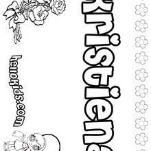 Kristiena - Coloring page - NAME coloring pages - GIRLS NAME coloring pages - K names for girls coloring posters