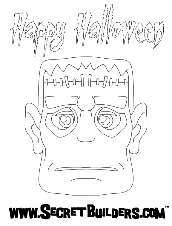 HALLOWEEN POSTERS Coloring Pages
