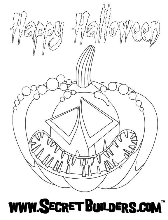 Pumpkin lantern coloring page