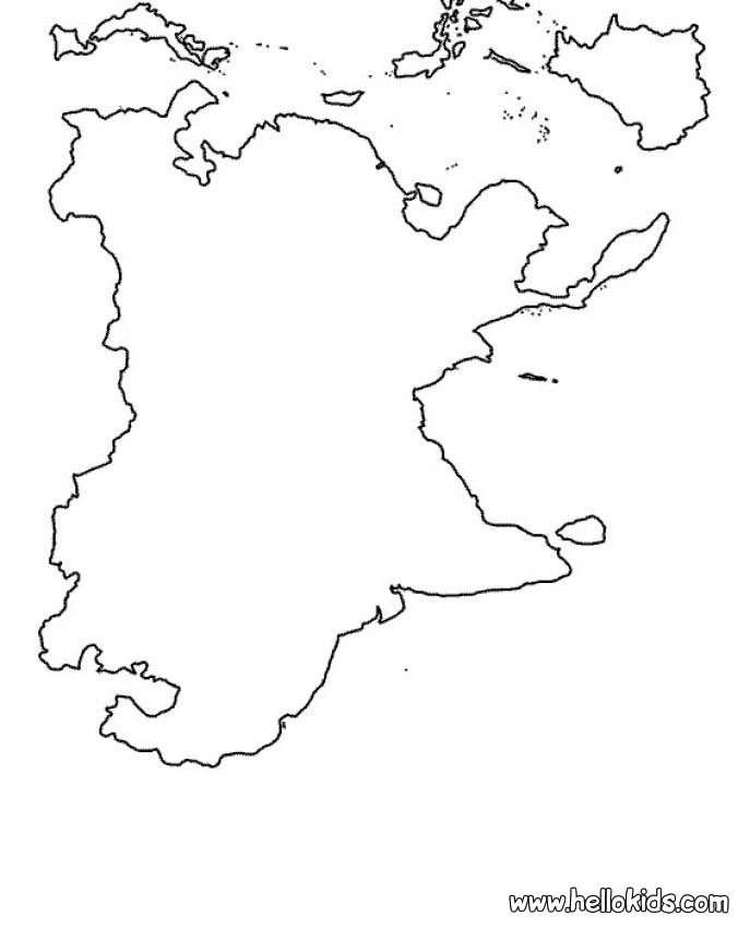 Asia map coloring page for Asia map coloring page
