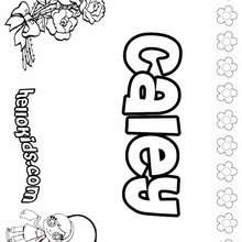 Caley - Coloring page - NAME coloring pages - GIRLS NAME coloring pages - C names for girls coloring sheets