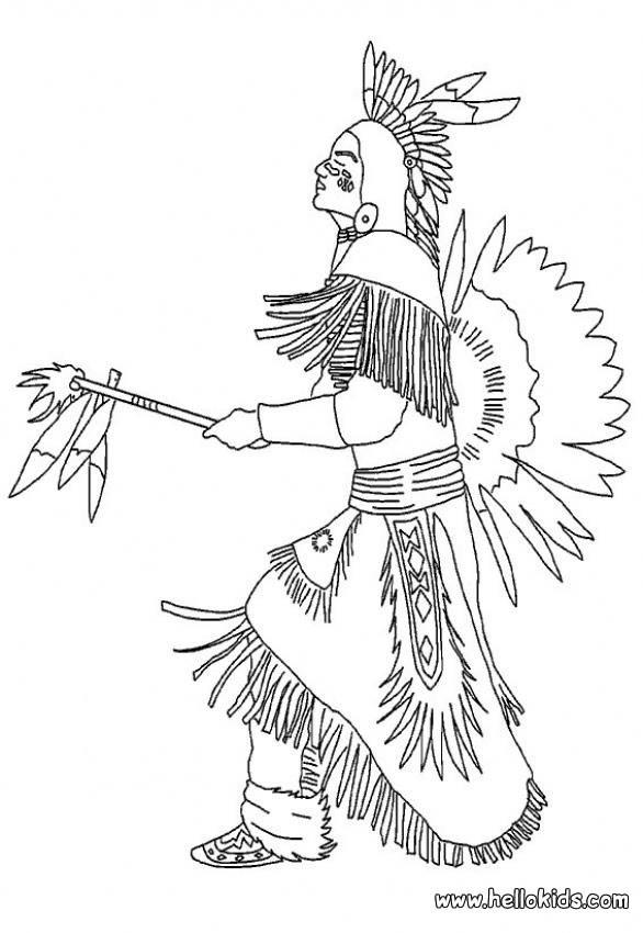 Native American Portrait Coloring Page