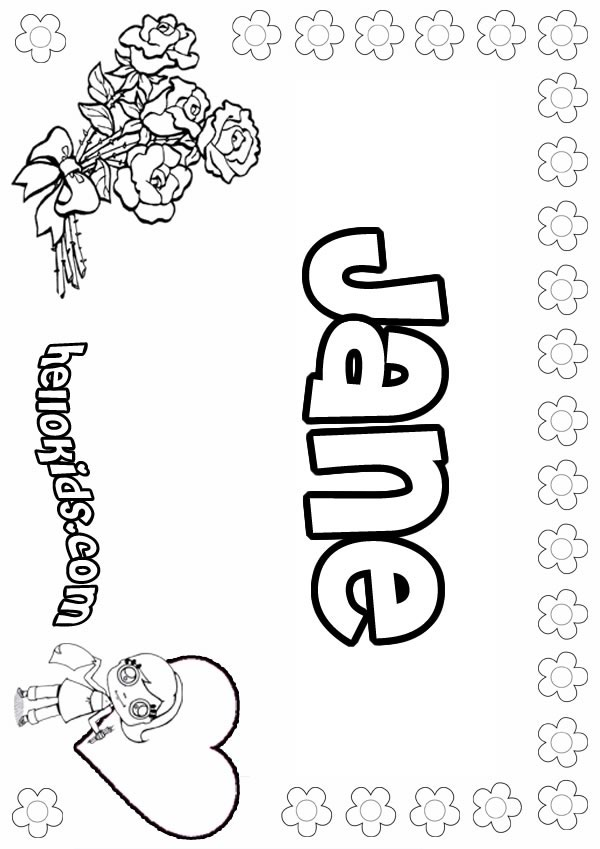 jane coloring pages - photo#1