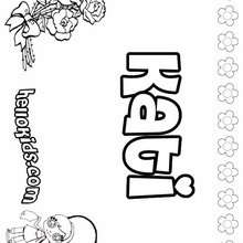 Kati - Coloring page - NAME coloring pages - GIRLS NAME coloring pages - K names for girls coloring posters