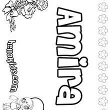 Amira - Coloring page - NAME coloring pages - GIRLS NAME coloring pages - A names for girls coloring sheets