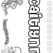 Caitlynn - Coloring page - NAME coloring pages - GIRLS NAME coloring pages - C names for girls coloring sheets