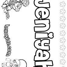 jessica name coloring pages | Jenna coloring pages - Hellokids.com