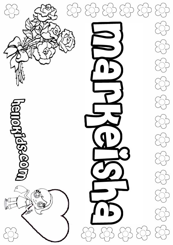 Markeisha coloring page