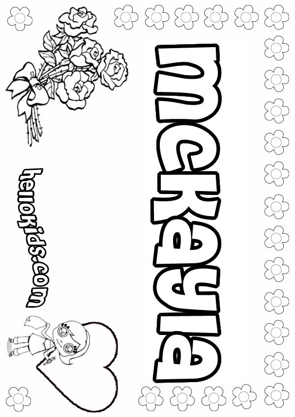 Mckayla coloring pages Hellokids