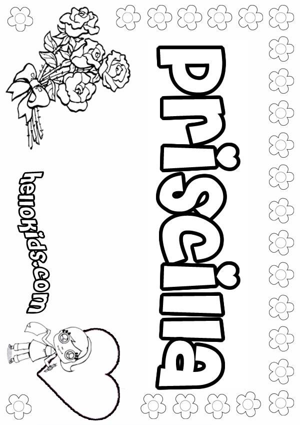 Priscilla coloring pages Hellokids