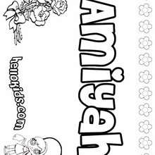 Amiyah - Coloring page - NAME coloring pages - GIRLS NAME coloring pages - A names for girls coloring sheets