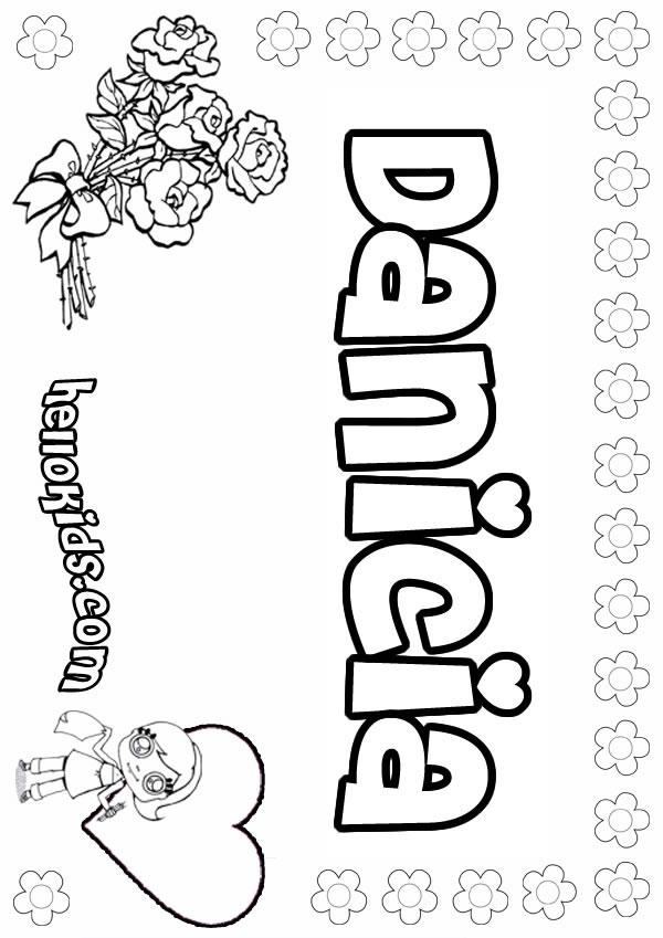 Danicia coloring page