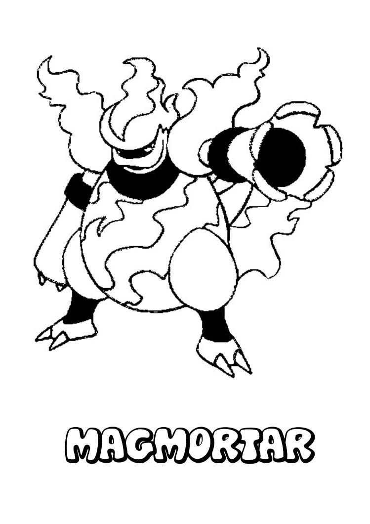 Pokemon coloring pages ponyta - Magmortar Pokemon Coloring Page