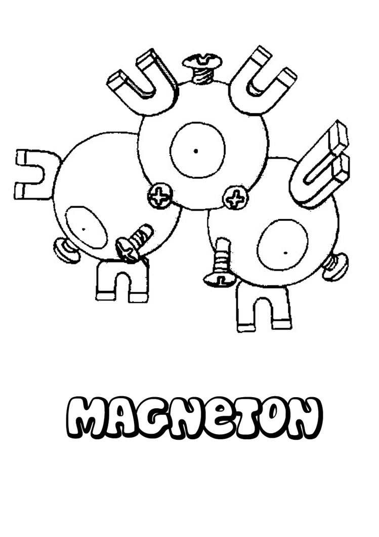 Pokemon coloring pages magnezone - Magneton Pokemon Coloring Page