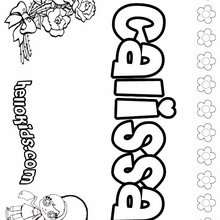 Callisa - Coloring page - NAME coloring pages - GIRLS NAME coloring pages - C names for girls coloring sheets