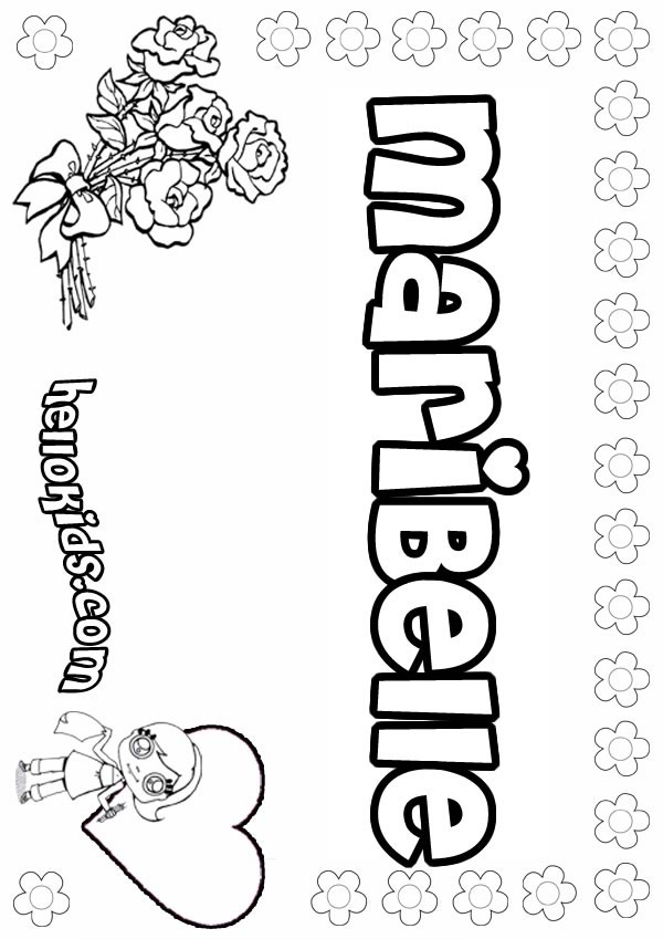 M names for girls coloring posters - 0 printables to create your ...