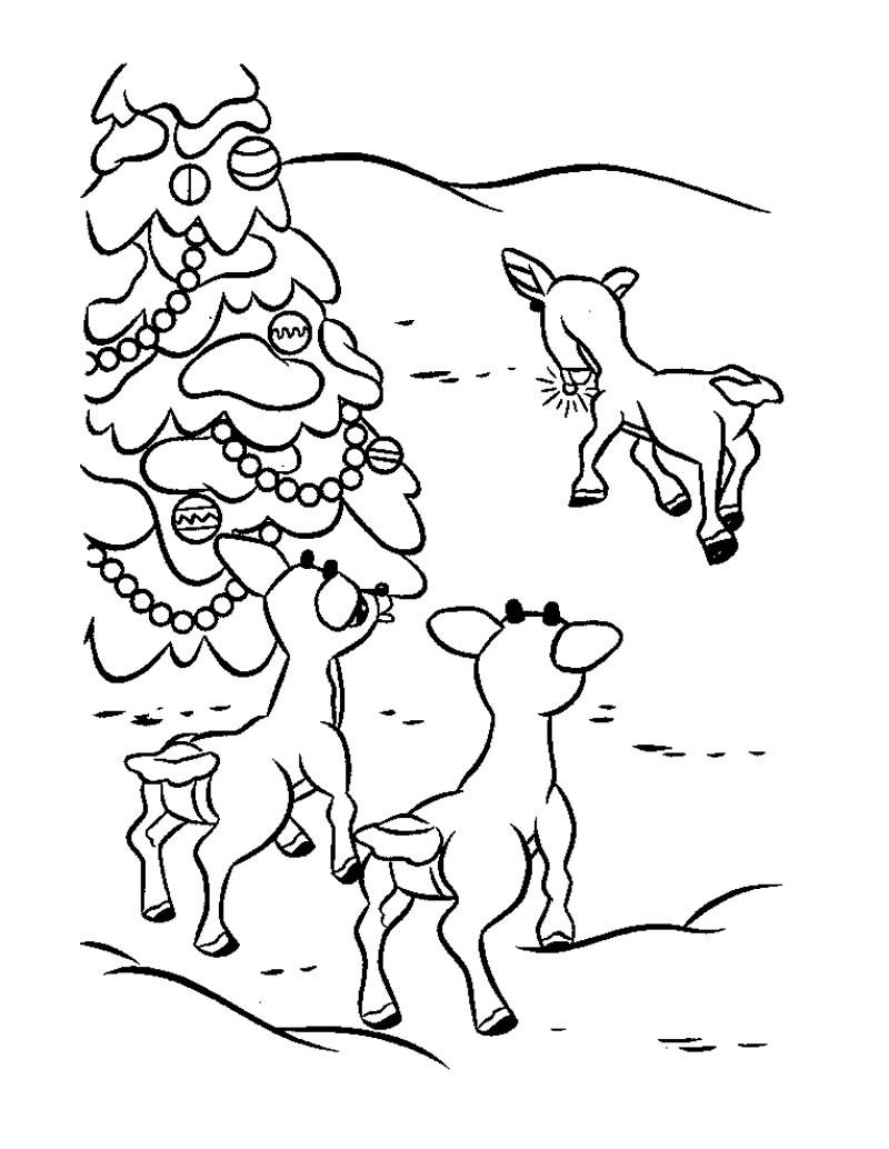 Rudolph's friends coloring pages - Hellokids.com