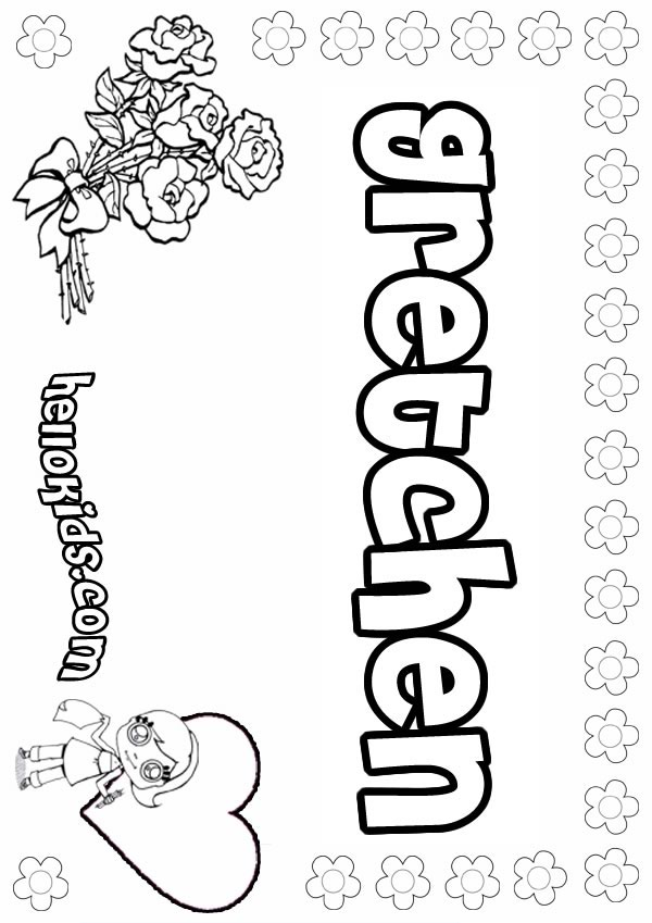 gretchen coloring page