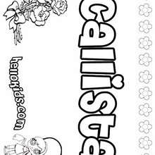 Callista - Coloring page - NAME coloring pages - GIRLS NAME coloring pages - C names for girls coloring sheets