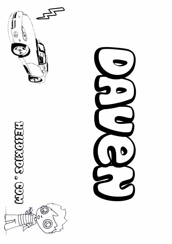 daven coloring page name coloring pages boys name coloring pages d names - Boy Coloring Book