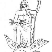 chronos the greek titan god of time coloring pages hellokids Cronus Greek God Powers god zeus