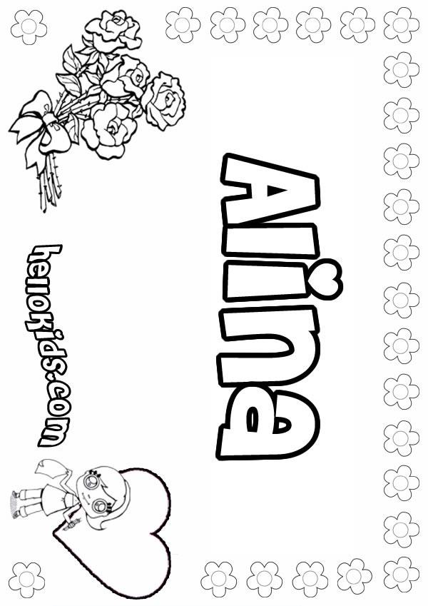 Alina coloring page