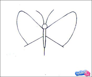 BUTTERFLY drawing lesson