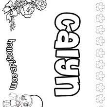 Calyn - Coloring page - NAME coloring pages - GIRLS NAME coloring pages - C names for girls coloring sheets