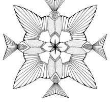 Colibri mandala - Coloring page - MANDALA coloring pages - ANIMAL mandalas
