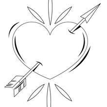 Pierced Heart Coloring Pages Hellokids Com