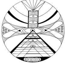 Cosmic mandala - Coloring page - MANDALA coloring pages - ENERGY mandalas