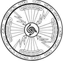 Energy mandala - Coloring page - MANDALA coloring pages - ENERGY mandalas