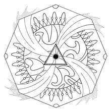 Energy whirl mandala - Coloring page - MANDALA coloring pages - ENERGY mandalas