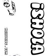 Ishola - Coloring page - NAME coloring pages - BOYS NAME coloring pages - I and J boys names coloring book