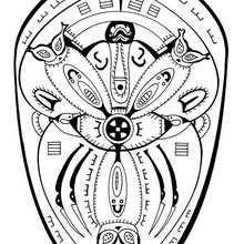 Polynesian mandala - Coloring page - MANDALA coloring pages - COUNTRIES mandalas