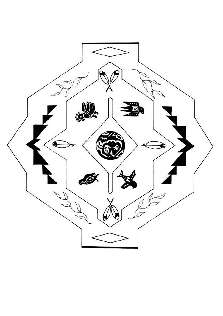 aztec mandala coloring pages hellokids com