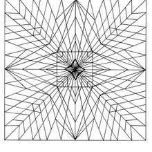 Star mandala - Coloring page - MANDALA coloring pages - ENERGY mandalas