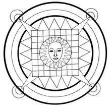 Sun mandala - Coloring page - MANDALA coloring pages - ENERGY mandalas